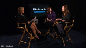 Liz Gumbinner with Katie Couric