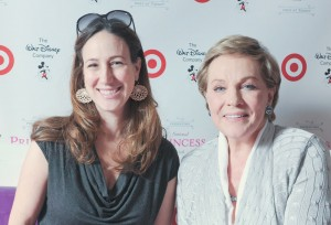 Liz Gumbinner and Julie Andrews
