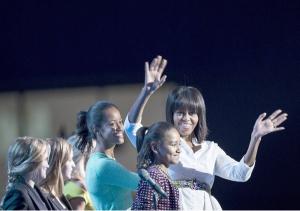 michelle malia sasha obama | getty images